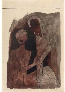 Maqbool Fida Husain-Portrait of an Umbrella- Twelve-1981