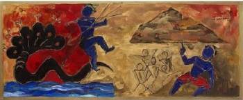 Maqbool Fida Husain-Krishna-1990