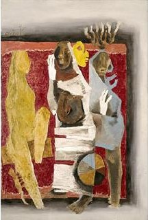 Maqbool Fida Husain-Maya-1970
