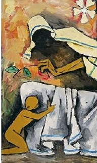 Maqbool Fida Husain-Untitled (Mother Teresa)-