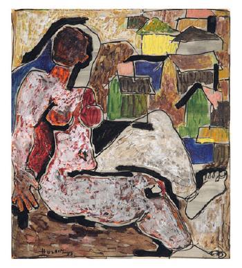 Maqbool Fida Husain-Untitled-1953