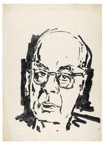 Maqbool Fida Husain-Two Portraits-1985