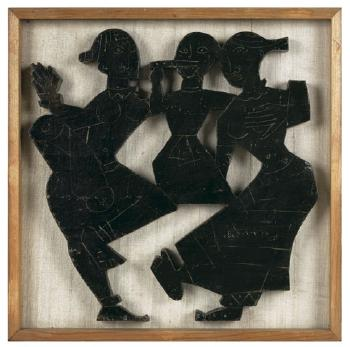 Maqbool Fida Husain-Musicians-1950