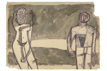 Maqbool Fida Husain-Figures-1950