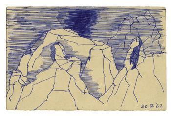 Maqbool Fida Husain-A Group of Seven Postcards-1960