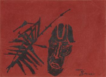 Maqbool Fida Husain-Kerala Head-1967
