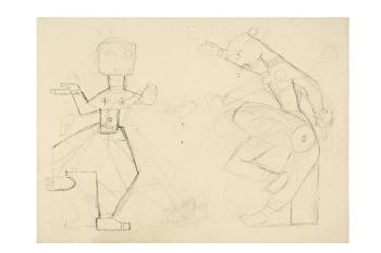 Maqbool Fida Husain-Untitled (A Group of Five Early Drawings)-1950