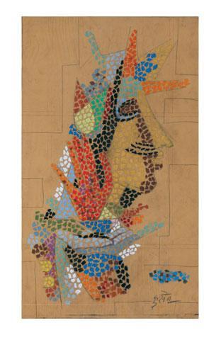 Maqbool Fida Husain-Studies for a Mosaic Mural-1960