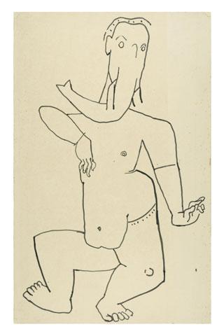Maqbool Fida Husain-Ganesha-1950