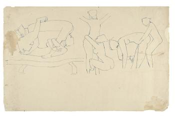 Maqbool Fida Husain-Drawings from the Khajuraho Series-1950