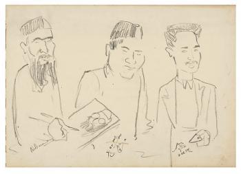 Maqbool Fida Husain-Cultural Personalities-1952
