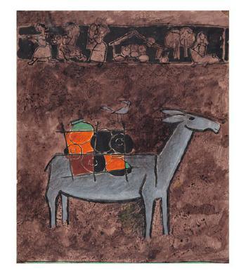 Maqbool Fida Husain-Donkey and an Associated Study-1950