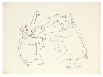 Maqbool Fida Husain-Elephants-1960
