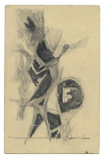 Maqbool Fida Husain-A Group of Eight Postcards-1962