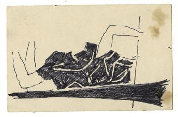 Maqbool Fida Husain-A Group of Five Srinagar Postcards-1966