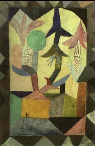 Paul Klee-Fleurs Du Ciel Au-Dessus Dune Maison Jaune-1917