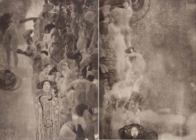 Gustav Klimt-(i) Die Philisophie; (ii) Die Medizin-