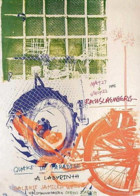 Robert Rauschenberg-Robert Rauschenberg - Quake in Paradise (Labyrinth)-1995