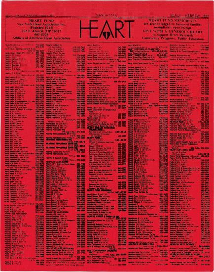 Andy Warhol-Valentine's Hearts Ads (Heart Fund)-1983