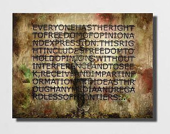Liu Bolin-Sans Titre (Everyone Have The Right) (En Collaboration Avec Rero)-2013
