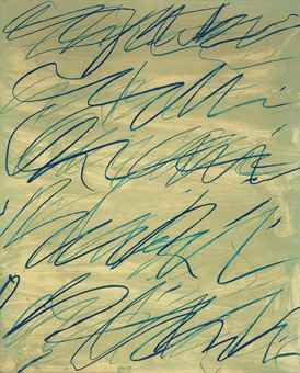 Cy Twombly-Roman Notes VI, From Roman Notes-1970