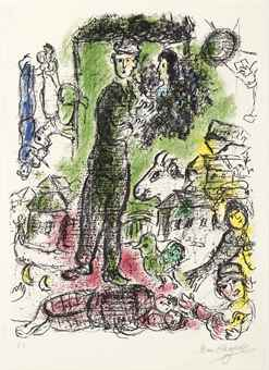 Marc Chagall-Le Grand Paysan-1968