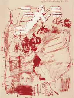 Robert Rauschenberg-Score, From Stoned Moon Series-1970