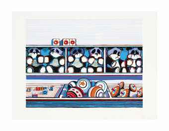 Wayne Thiebaud-Toy Counter, From Seven Still Lifes And A Rabbit-1971