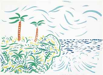 David Hockney-Bora Bora-1979