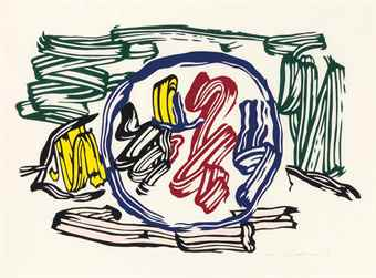 Roy Lichtenstein-Apple And Lemon, From Seven Apple Woodcuts-1983