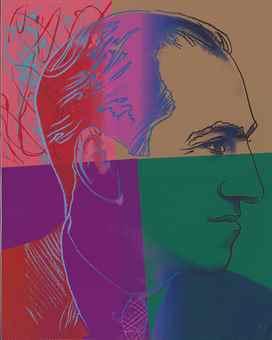Andy Warhol-George Gershwin, From Ten Portraits Of Jews Of The Twentieth Century-1980