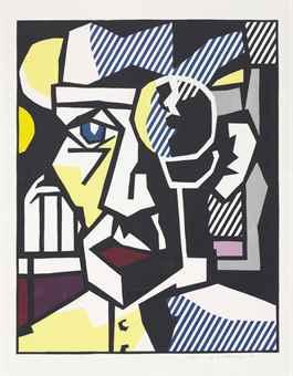 Roy Lichtenstein-Dr. Waldmann, From Expressionist Woodcuts-1980