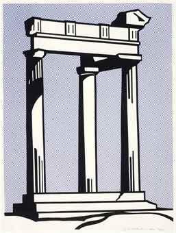 Roy Lichtenstein-Temple-1964
