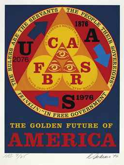 Robert Indiana-The Golden Future Of America, From An American Portrait, 1776-1976-1976