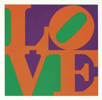 Robert Indiana-Zinnia, From A Garden Of Love-1982
