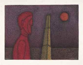 Rufino Tamayo-Figura En Rojo-1984