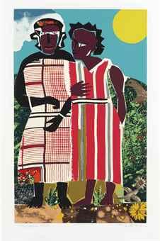 Romare Bearden-Two Women-1982