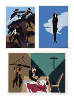 Jacob Lawrence-The Legend Of John Brown: Three Plates-1977