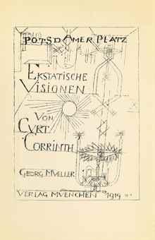 Paul Klee-Curt Corrinth, Potsdamer Platz Oder Die Nachte Des Neuen Messias. Ekstatische Visionen, Georg Muller, Munich, 1920-
