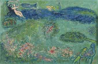 Marc Chagall-The Orchard, From Daphnis Et Chloe-1961