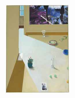 Paul Wonner-Still Life With Painting And Postcard By Raffael-1976