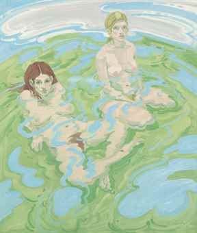 Neil Welliver-Two Nudes (Twice)-1970