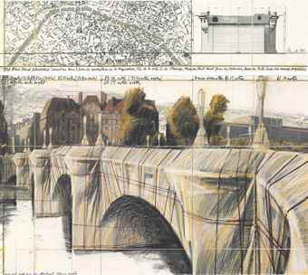 Christo and Jeanne-Claude-The Pont Neuf, Wrapped (Project For Paris)-1985