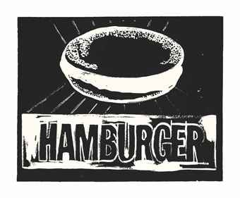 Andy Warhol-Hamburger-1986