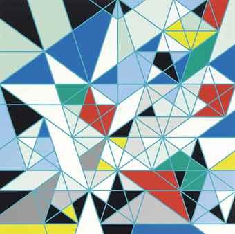 Sarah Morris-Dodecahedron (Origami)-2008