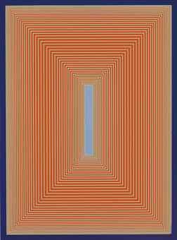 Richard Anuszkiewicz-Silent Blue-1982