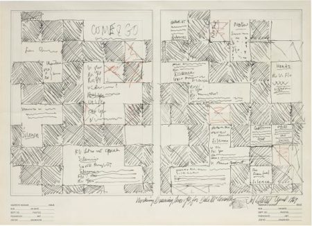 Sol LeWitt-Working Drawing, Come & Go, For Dale Mcconathy (Harper'S Bazaar)-1969