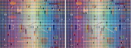 Yaacov Agam-Two Works: (I) Fond Marin I; (II) Fond Marin II-2005