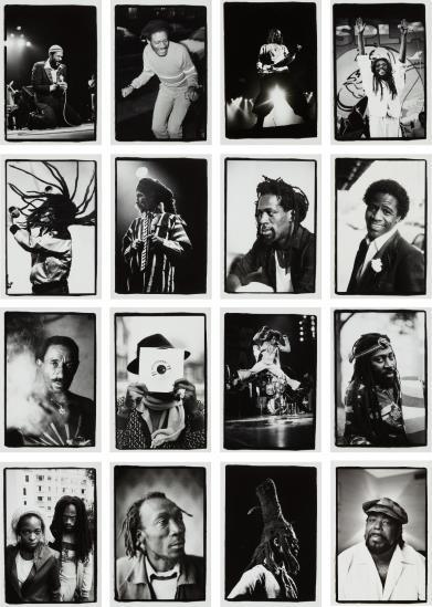 David Corio-Sixteen Works: (I) Marvin Gaye; (II) Horace Andy; (III) Peter Tosh; (IV) Dennis Brown; (V) Augustus Pablo; (VI) Bob Marley; (VII) Gregory Isaacs; (VIII) Al Green; (IX) Lee Perry; (X) Niney The Observer; (XI) James Brown; (XII) Bunny Wailer; (XIII) Black Uhuru; (XIV) Alton Ellis; (XV) David Hinds; (XVI) Barry White-1988