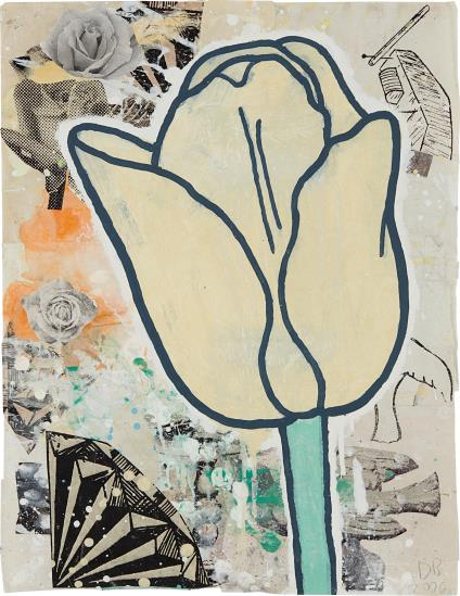 Donald Baechler-Yellow Tulip-2006